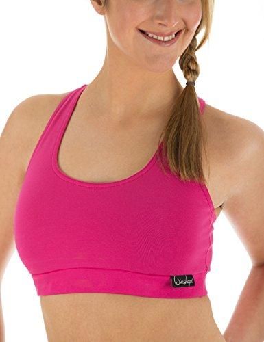 Winshape Damen Fitness Freizeit Sport-bh, Pink, L