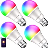 Bombilla inteligente con luz blanca suave, Fosmart 16 millones de RGB que cambia...