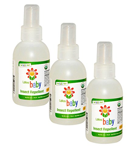 Lafe's Baby Natural Body Care   Organic Baby Insect Repellent   Organic, No Alcohol, Chemical Free & All Natural; 3 Pack (4oz)
