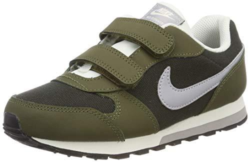 Nike Jungen MD Runner 2 (PSV) Fitnessschuhe, Mehrfarbig (Sequoia/Wolf Grey/Olive Canvas/Sail 301), 31 EU