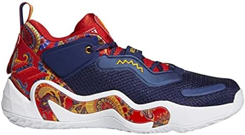 adidas D.O.N.Issue 3 J Basketball Shoes Kids Size 4.5 Red/Blue