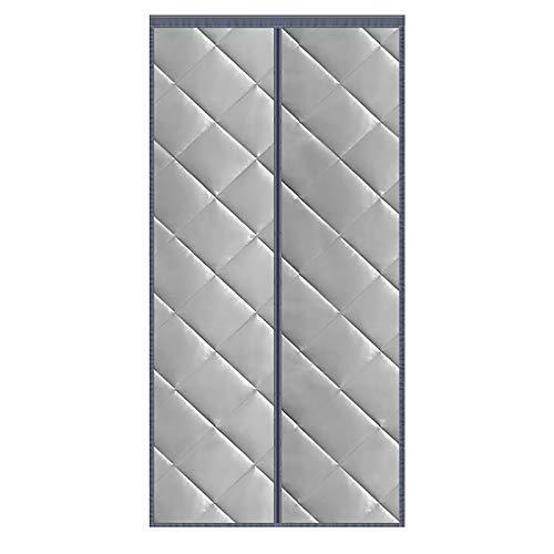 FSFF Cortina de Puerta con Aislamiento térmico magnético, Aire Acondicionado Anti tormenta de Nieve, Cortina de partición, Puertas Plegables, Cierre automático, para Puerta de Madera/PVC/plás