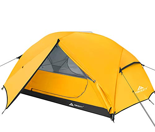 Forceatt Tent for 2 and 3 Person is Waterproof and Windproof, Camping Tent for 3 to 4 Seasons,Lightweight Aluminum Pole Backpacking Tent Can be Set Up Quickly,Great for Hiking,Camping and Backpacking.