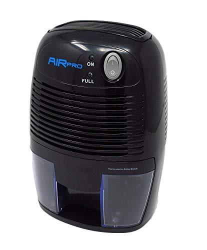 AirPro Mini deshumidificador de aire compacto, 500 ml, color negro, para el hogar, cocina, dormitorio, baño, caravana, etc.