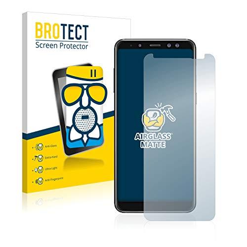 brotect Pellicola Vetro Opaca Compatibile con Samsung Galaxy A8 2018 Protezione Schermo Anti-Riflesso Durezza 9H, AirGlass