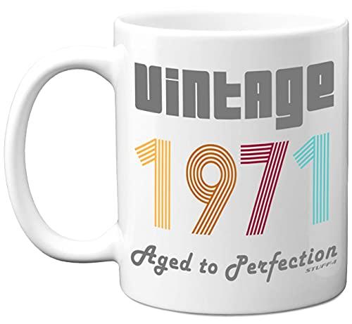 Stuff4 50th Birthday Gifts for Men Women - 1971 Vinatge Coffee Mug, 11oz Ceramic Dishwasher Safe...