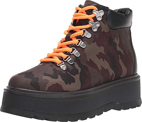 Steve Madden Women's Stomp Combat Boot, Camo, 8.5 M US