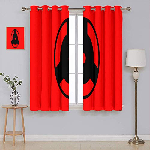 Anime Naruto Solid Grommet Blackout Curtains Black out window curtain Home Decor Window Curtains 55x63 Inch