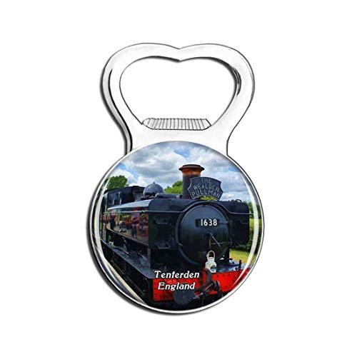 Tenterden Kent & East Sussex Railway UK England Fridge Magnet Bottle Opener Beer City Travel Souvenir Collection Gift Strong Refrigerator Magnet