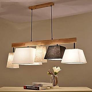 Lámpara De Techo Moderna Lámpara De Techo De Madera Mesa De Comedor Lámpara De La Sala Sala De Estar Balcón Dormitorio
