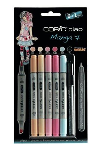 Copic ciao Set 5+1 MANGA 7 Farben-Set 22075564 NEU Farbset Marker MANGA-SET