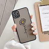 LIUYAWEI Pretty Flowers - Carcasa Mate para teléfono para iPhone...