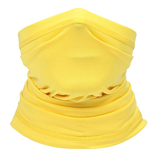 Summer Neck Gaiter Face Scarf/Neck Cover/Face Cover for Sun Hot Summer Cycling Hiking Fishing Yellow