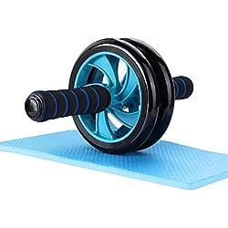 Roller abdominal Mitavo , AB Roller, Ab Wheel, Appareil d'exercice pour abdominaux avec repose-genoux destiné au fitness et à l'entraînement efficace des muscles abdominaux / des muscles des épaules / des cuisses