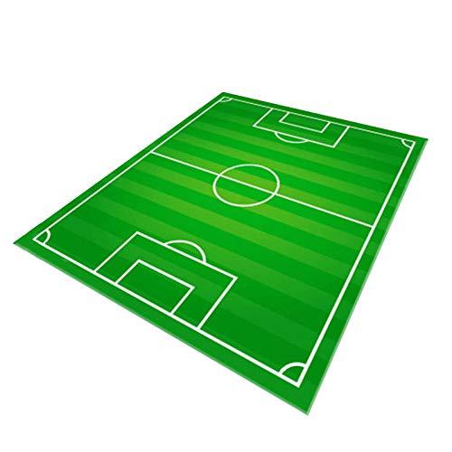 Teppich Kinderzimmer Fußball Spielteppich Kinderteppich Fußballplatz Grün, Sports Theme Room, 80*120cm 31*47inch