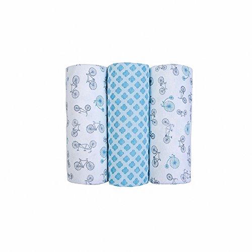 Cueiro Composê Estampado, Papi Textil, Azul, 80cmx80cm