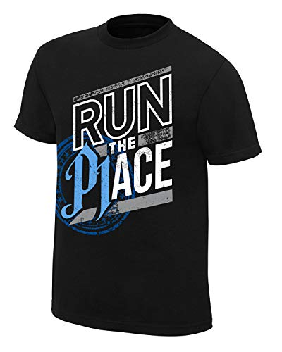 WWE AJ Styles Run The Place Authentic Youth T-Shirt, Größe M