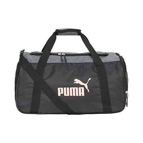 PUMA Women's Defense Duffel Bag, Pink/Grey, One Size