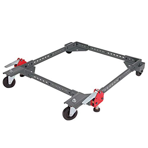 PROTOCOL Equipment Universal Rolling Base for Large Power Tools and Machinery, Durable Steel Construction, Adjusts from 12 inches to 33 inches, Foot Levers Lock for Stability, 400 lb. Capacity