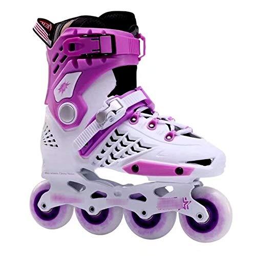 QJM Roller Blades/Geeignet for Erwachsene/Kinder Verstellbare Inline Skates Roller Blades Boots Elegantes Design Anfänger Roller Skates (Color : A, Size : 42)