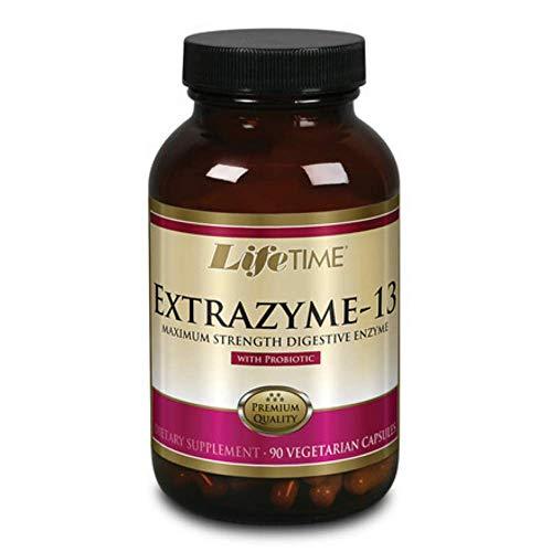 LifeTime Vitamins - Extrazyme-13 com enzima digestiva de força máxima probiótica - 90 Cápsulas vegetarianas