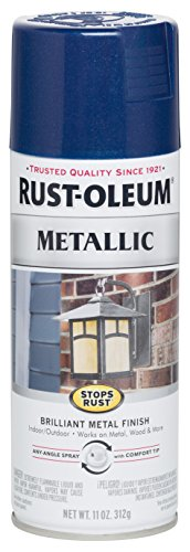 Rust-Oleum 7251830-6PK Stops Rust Metallic Spray Paint,...