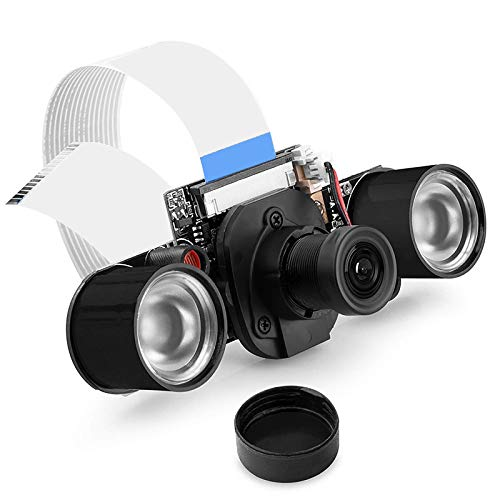 Fauge MóDulo de CáMara de VisióN Nocturna para Raspberry Pi 4, 5MP 1080P HD Video OV5647 Sensor Kit de CáMara Web con Corte IR Incorporado