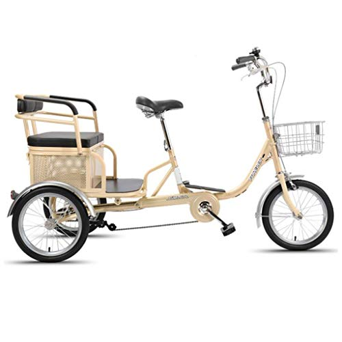 Adult Tricycle Three Wheel Bike Tricycles Adult Tricycles 16 Inches 3 Wheel Adult Trike Adult Bike Cycling with Shopping Basket Picnics Exercise Men's Women's Cruiser Bike Adult Tricycles