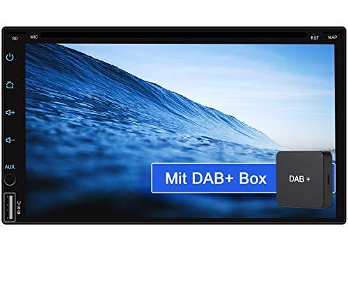 "Tristan Auron BT2D7018A-DVD Android 10 Autoradio mit Navi + DAB+ Box I 7\"" Touchscreen GPS Bluetooth Freisprechfunktion I 32GB ROM I WiFi USB SD I OBD 2 2 DIN"