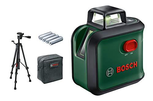 Bosch Home and Garden 0603663B04 Set Bosch kruislijnlaser AdvancedLevel 360 (statief, werkbereik: tot 24 m, zelfnivellerend tot ± 4°, groene laser, 4x AA-batterijen, in doos)