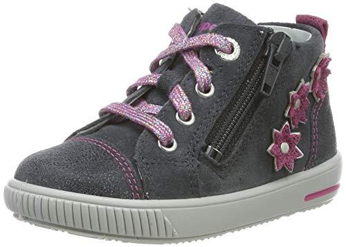 Superfit Baby Mädchen Moppy Sneaker, Grau (Grau/Rosa 20), 22 EU