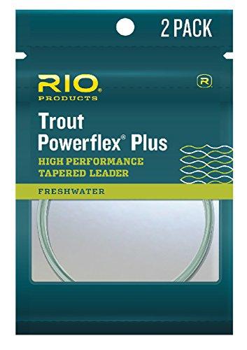 Rio Leaders Powerflex Plus 12ft 7X Leader Paquete de 2, Transparente, 3,66 m