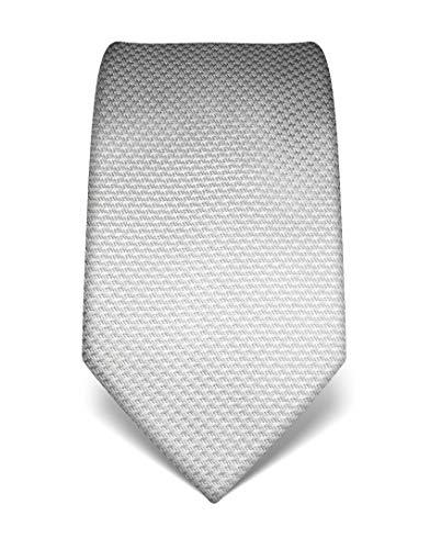Vincenzo Boretti Herren Krawatte reine Seide Hahnentritt Muster edel Männer-Design zum Hemd mit Anzug für Business Hochzeit 8 cm schmal/breit grau