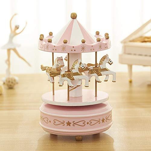 GuoQiang Zhou Caja de música La Caja de música del carrusel de la Novia del Regalo de cumpleaños joyería del Arte de la música Creativa de la Historieta de la Caja de la decoración del hogar