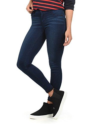 ONLY Feli Damen Jeans Denim Hose Röhrenjeans Aus Stretch-Material Skinny Fit, Farbe:Dark Blue Denim, Größe:XS/ L32