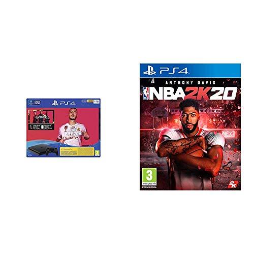 PlayStation 4 (PS4) Consola de 1TB + FIFA 20 + NBA 2k20