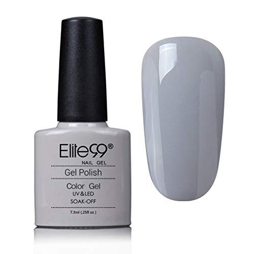 Elite99 UV Gel auflösbarer Nagellack, grau Nagelgel Farbgel Farblack LED Soak Off Gel-Lack -S40533