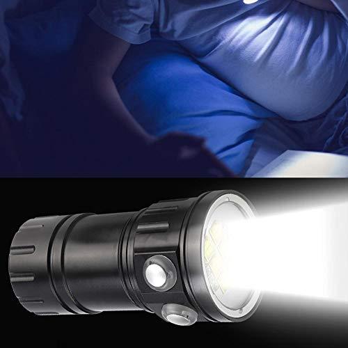 Riuty Tauchen Unterwasser Taschenlampe, 80m 120 Weitwinkel Wasserdicht 18000Lm Rot Blau Weiß Licht Taschenlampe Unterwasser Fotografie Lampe