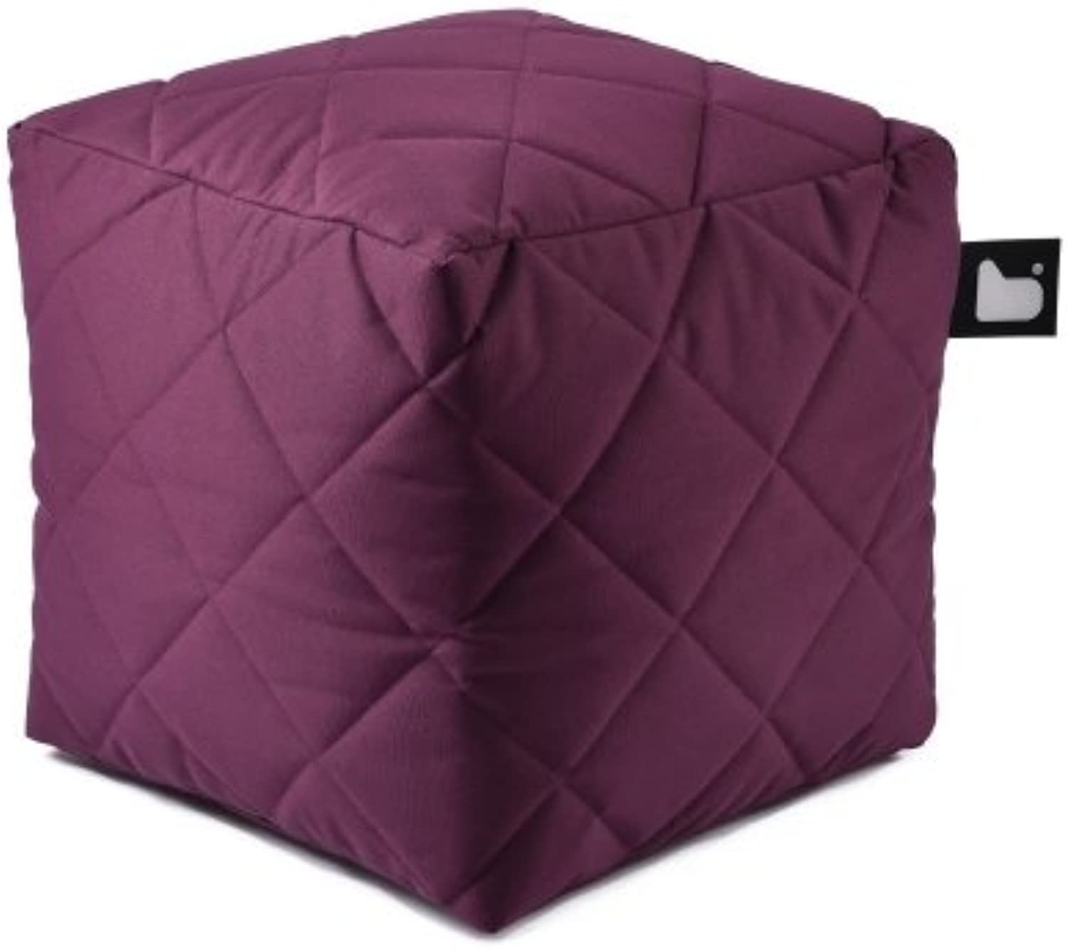 B-bag b-Box Outdoor Sitzhocker Quilted l Berry Lila