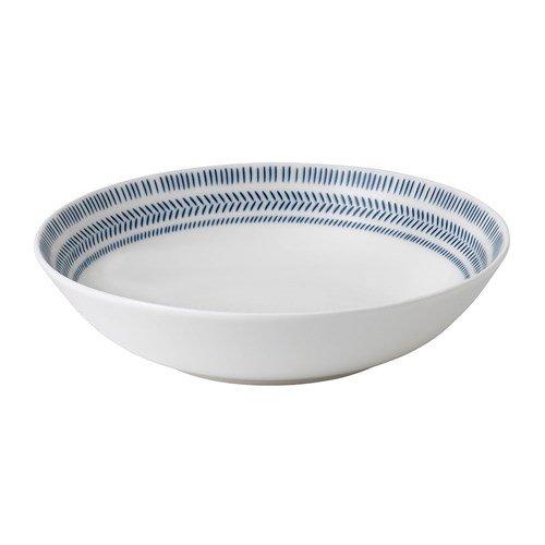 Royal Doulton ED Chevron pastabord ø 24cm, Weiß, 9.1x9x9 cm