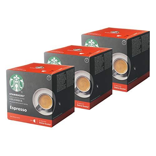 Starbucks Nescafé Dolce Gusto Colombia - Juego de 3 cápsulas de café, 3 x 12 cápsulas