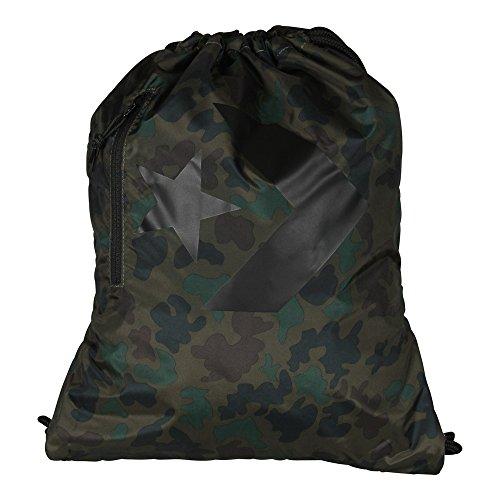 Converse Bolsa de Deporte Unisex de Los Deportes de Ocio Bolsa Bolso del Gimnasio de RCA Camo Black (Camouflage)