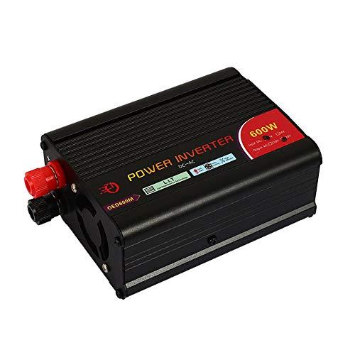 Rosepoem Onduleur 300W / 600W DC 12V à 220V AC, Adaptateur Chargeur de Voiture avec Prise Secteur Universelle et Interface USB