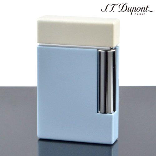 (デュポン) Dupont ライター LINE2 25112 クロムラッカー ライトブルー(ガス1本・フリント1シート特典付) 正規品