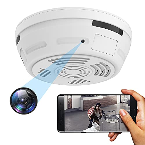 Hidden Camera Smoke Detector Security Camera, Spy Camera Included HD 1080P Night Vision, Instant Alerts & Real-Time View Nanny Cam