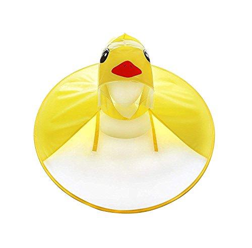 Kinder Ente Regenmantel UFO Regenmantel Kinder Regenschirm Cartoon Umhang für Kinder (Ente Regenmantel, S)