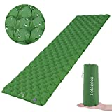 Tolaccea Camping Mat, Inflatable Sleeping Pad Lightweight & Waterproof Double-Sided Camping Mattress