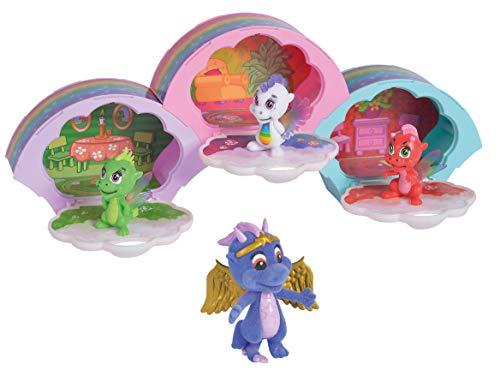 Simba 105951022 Safiras Regenbogenfreunde Drachenfigur, 3er Pack, Boxen zum Zusammenstecken, 1 besondere Figur, ab 3 Jahren