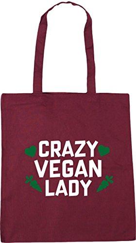 HippoWarehouse Crazy vegan lady Tote Shopping Gym Beach Bag 42cm x38cm, 10 litres