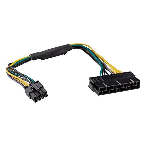 Adaptare 35007 30 cm ATX-Stromadapter 24-Pin Netzteil > 8-Pin-Stecker für DELL PowerEdge OptiPlex 3020 7020 9020 T1700 T20